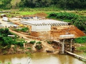 Projeto da Quilombola - Disposição das longarinas e infra estrutura da ponte